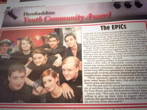 The Pride of Herefordshire-Nominated EPICs!